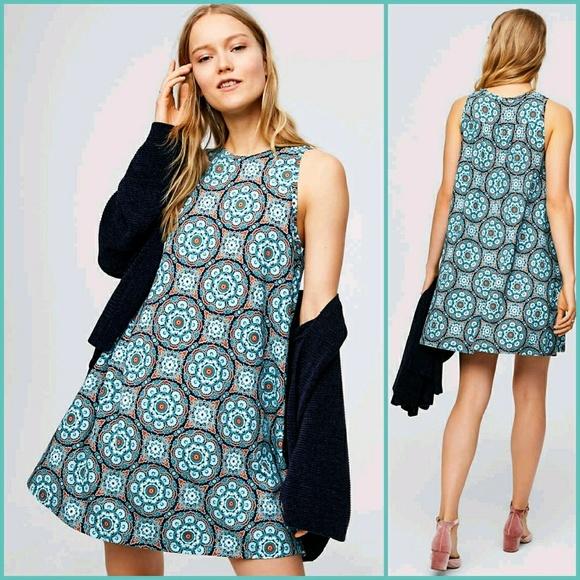 b599d7c7895 ANN TAYLOR LOFT MEDALLION SWING DRESS